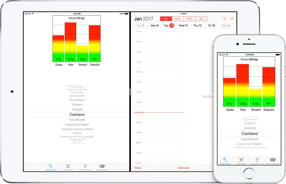 Quick Nutritional Data at your Fingertips